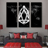3 piece EOS Black Marble Series wall art