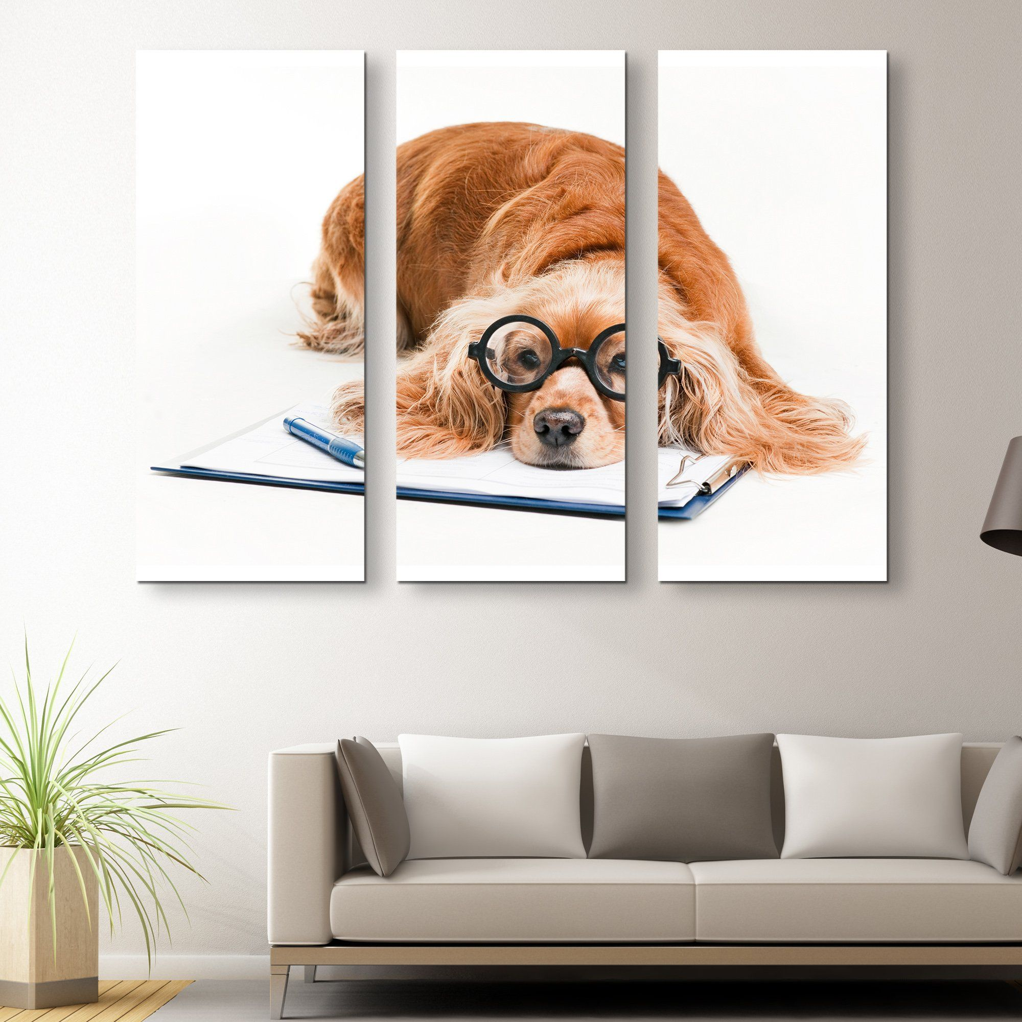 3 piece Cocker Spaniel wall art