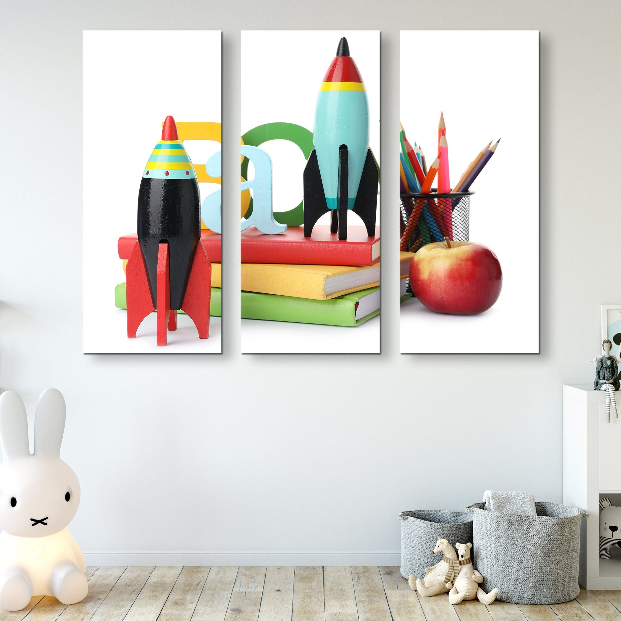 3 piece Rockets wall art