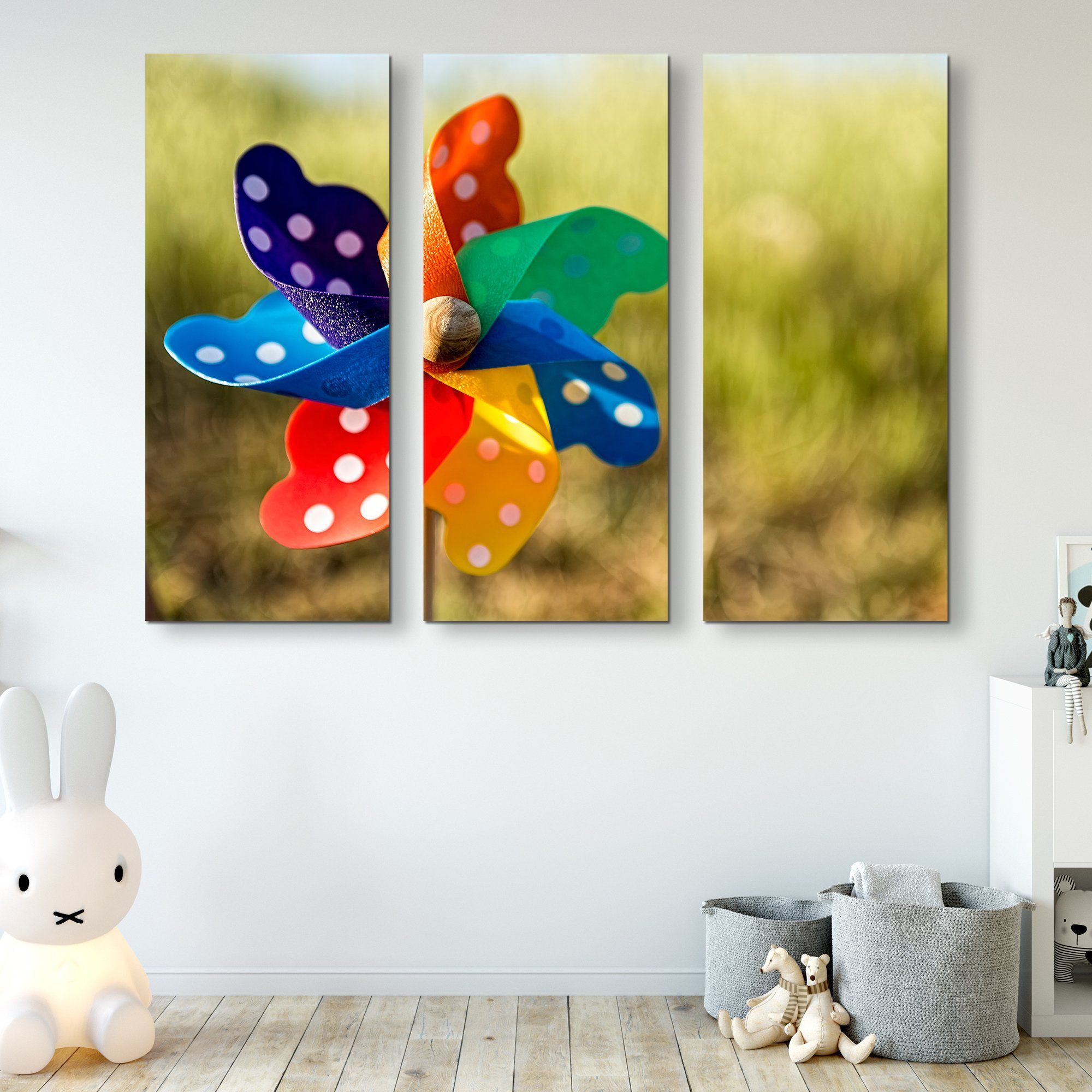 3 piece Pinwheel wall art