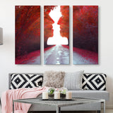 3 piece Road to Love wall art