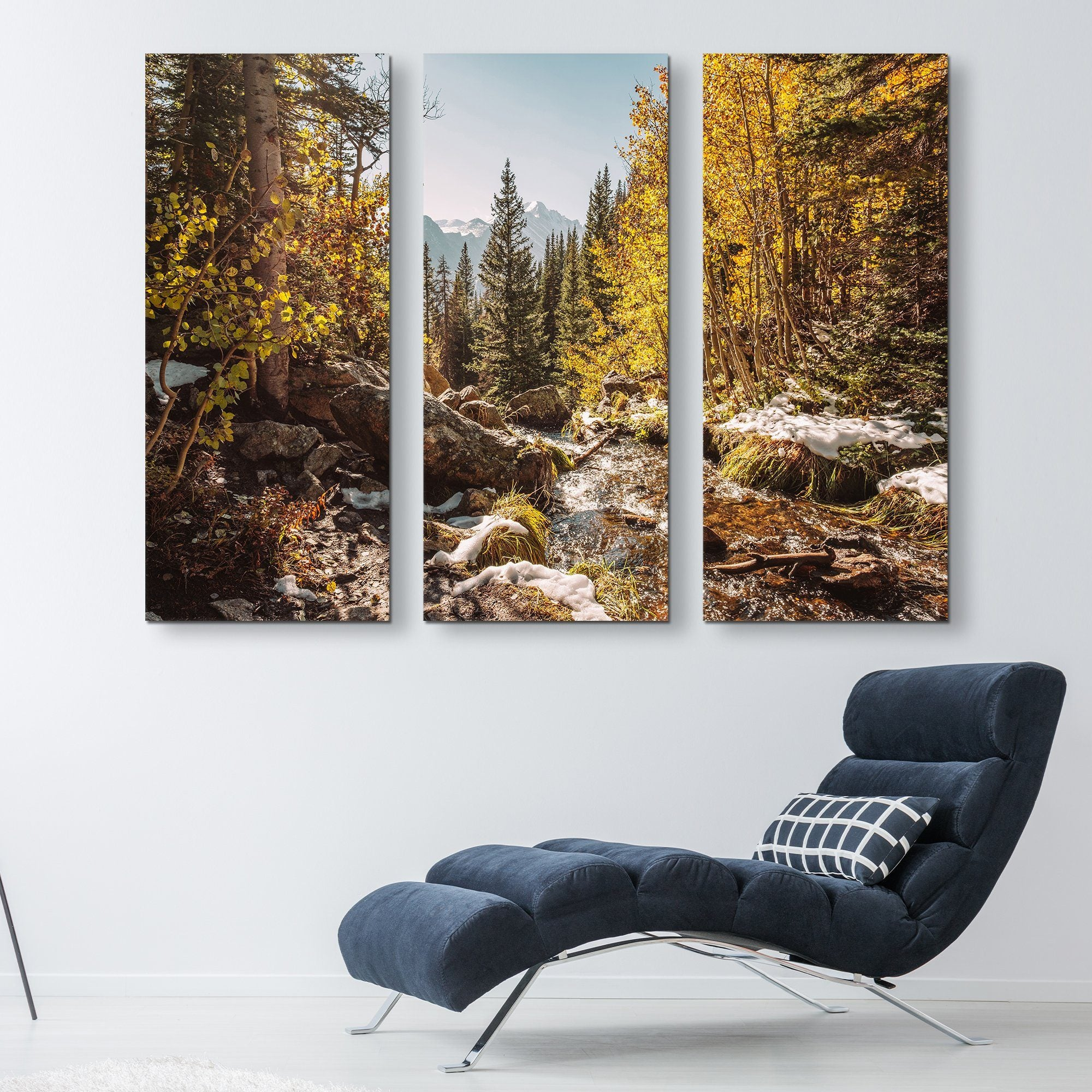 3 piece Rocky Mountain wall art