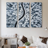 3 piece Snow-covered Forest wall art