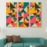 3 piece Vibrant Spectacle abstract wall art