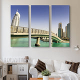 3 piece Footbridge In UAE wall art