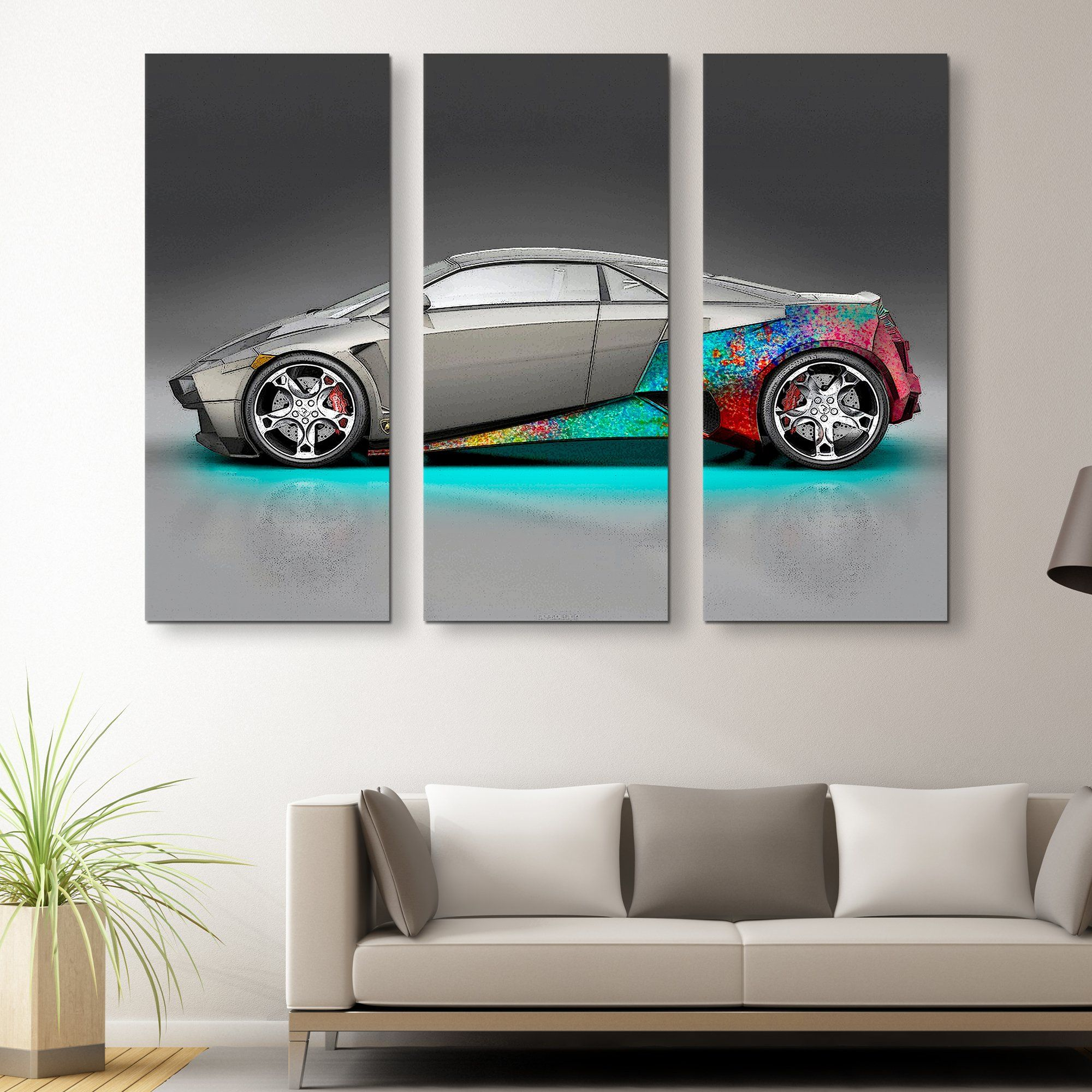 3 piece Lambo McFly wall art