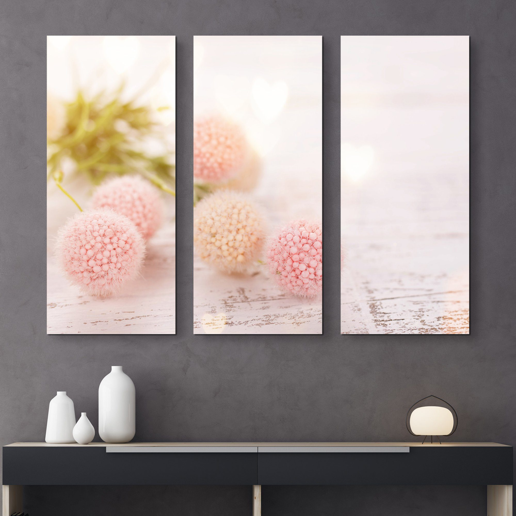 3 piece Flower Ball wall art