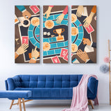 3 piece Board Game wall art