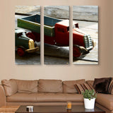 3 piece Miniature truck wall art