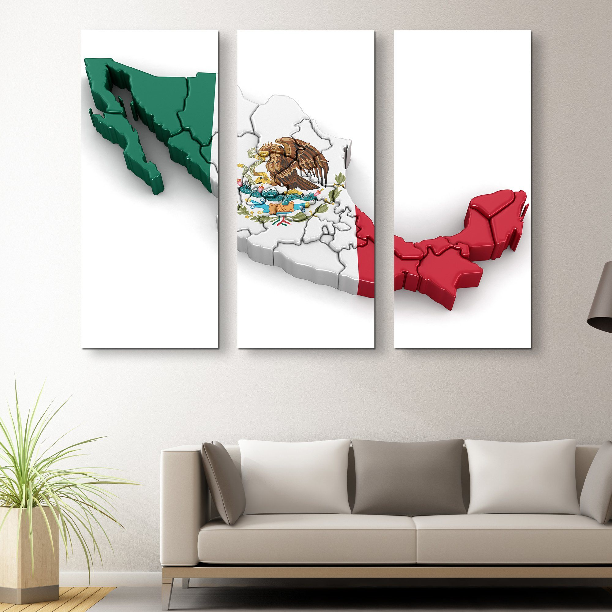 3 piece Mexico wall art