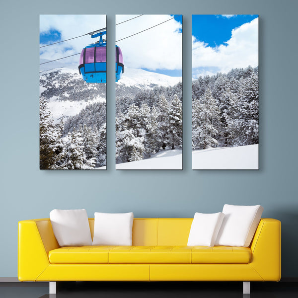 3 piece Cable Car wall art