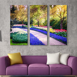 3 piece Flower garden wall art