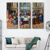 3 piece The Last Supper wall art