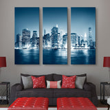 3 piece Night in New York wall art