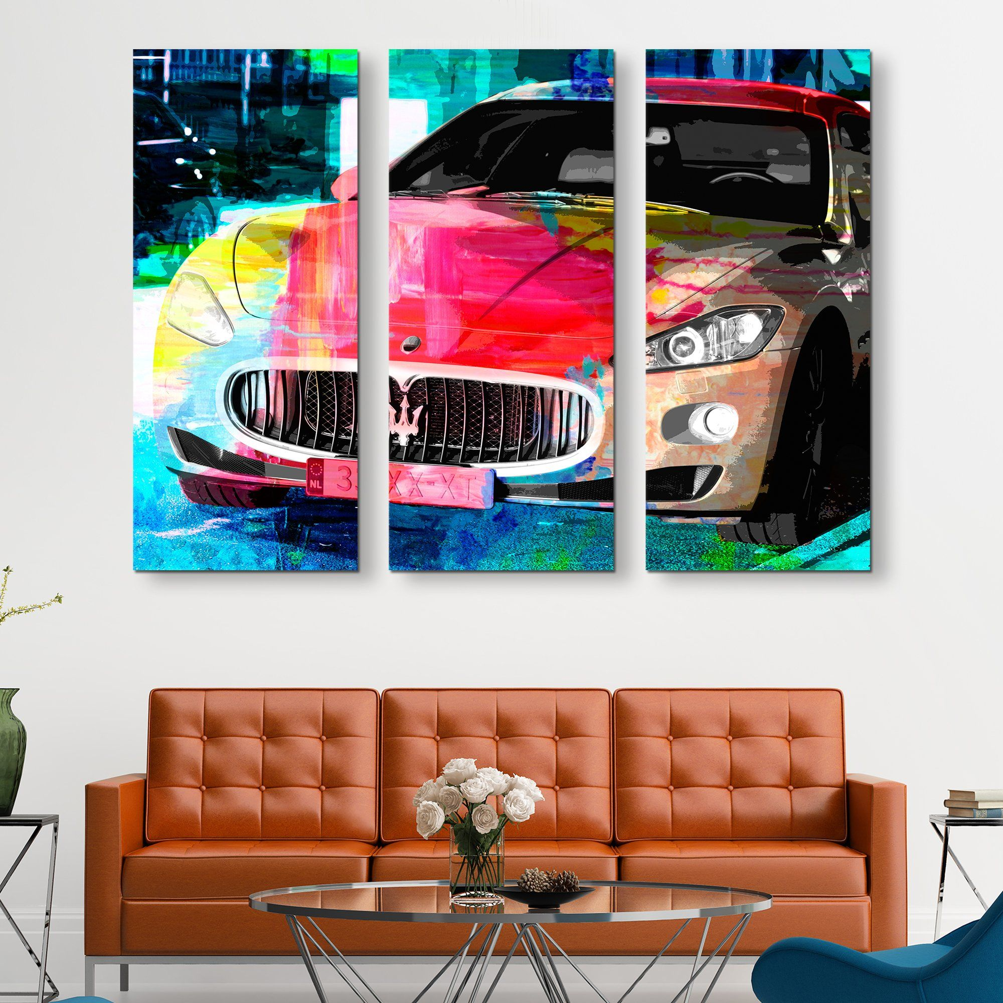 3 piece Maserati Nights wall art