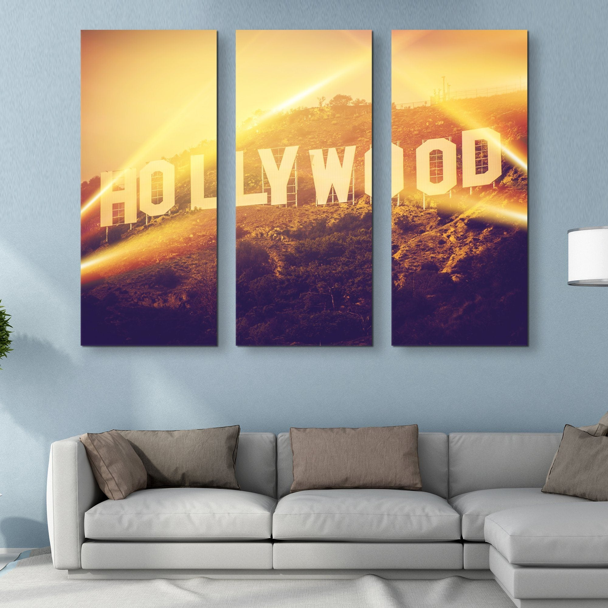 3 piece Hollywood wall art