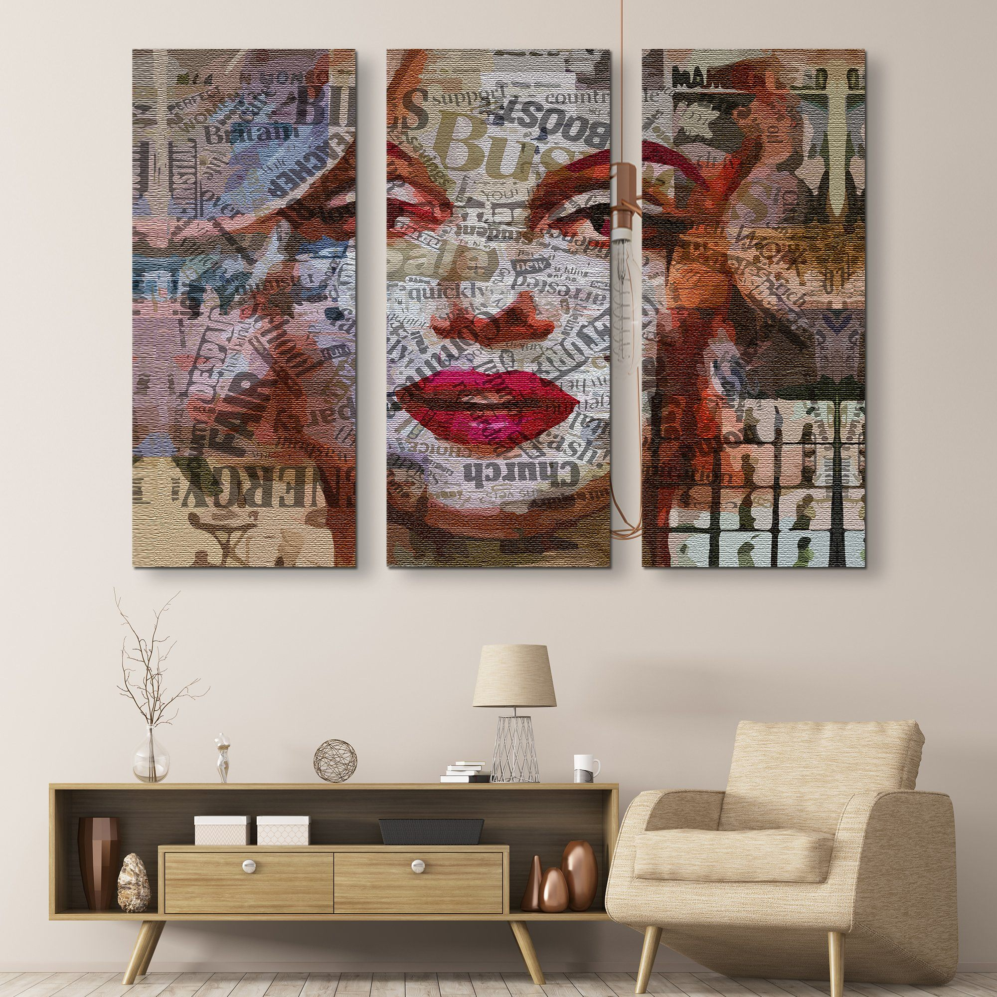 3 piece Miss Monroe wall art
