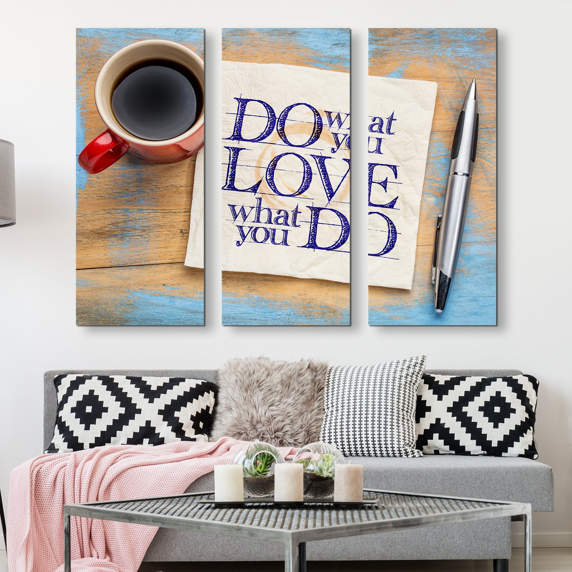 3 piece Do What You Love wall art