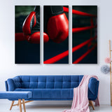 3 piece Boxing Gloves wall art