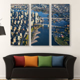 3 piece Canada Downtown View wall art