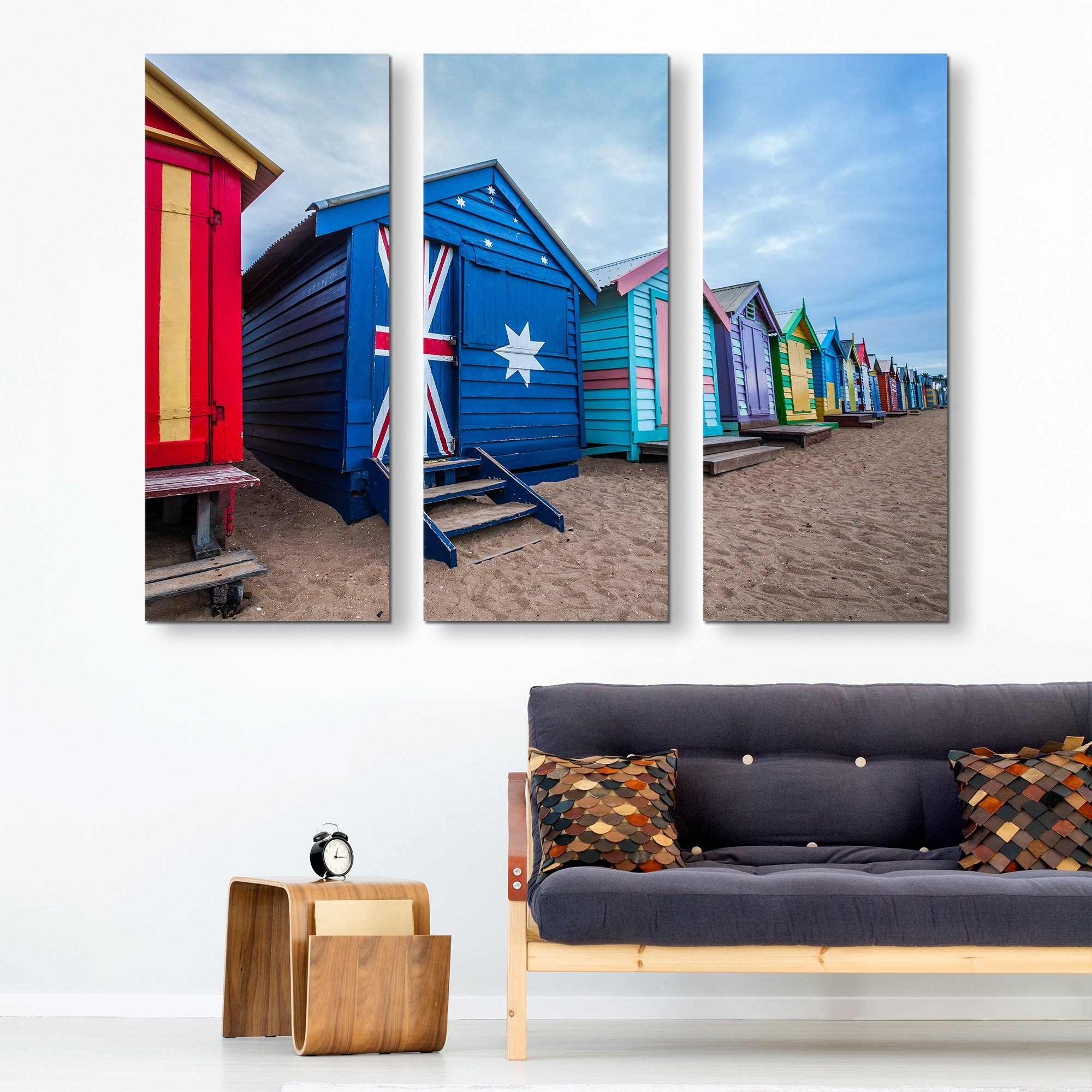 3 piece Australia Flag House wall art