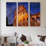 3 piece Colosseum wall art