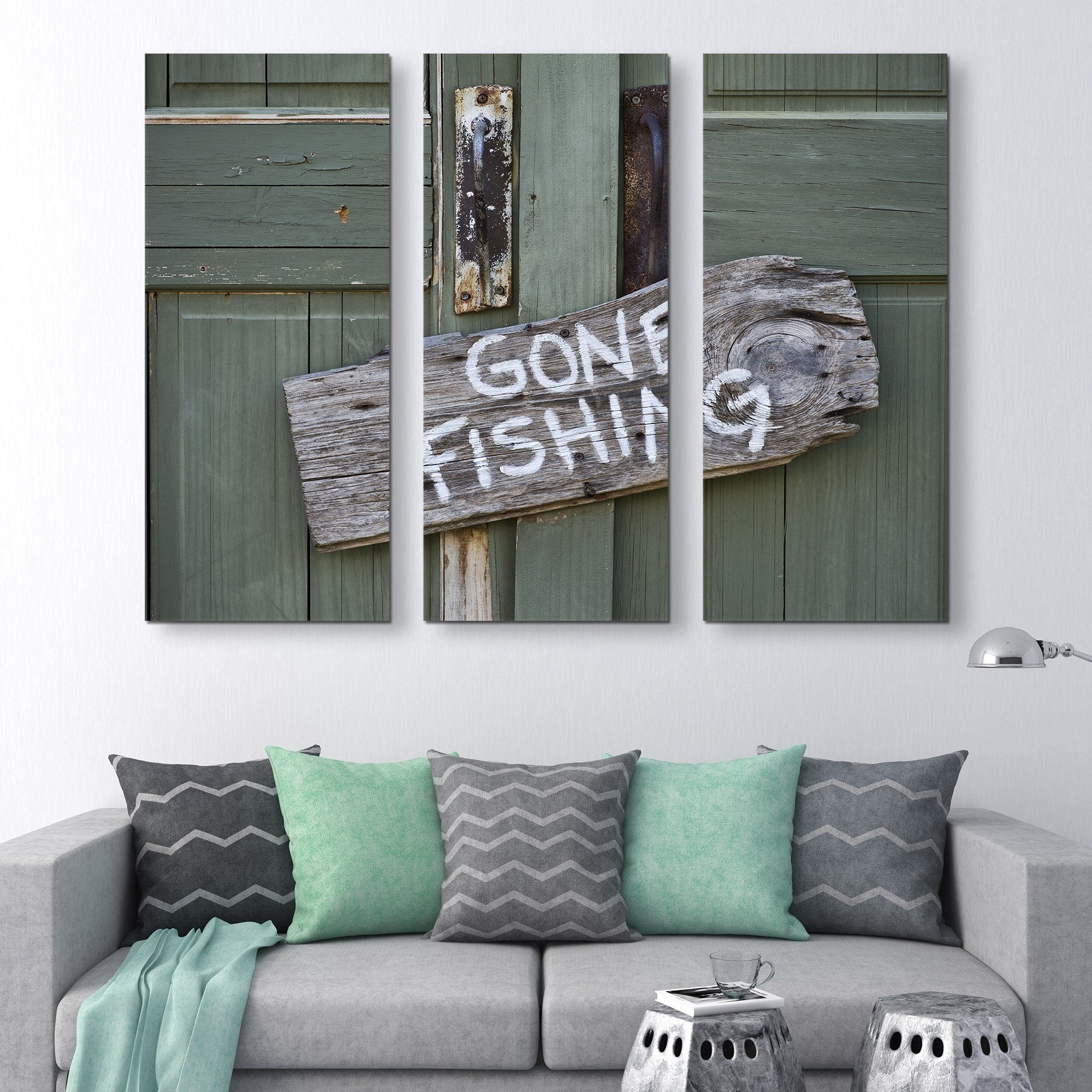 3 piece Gone Fishing wall art