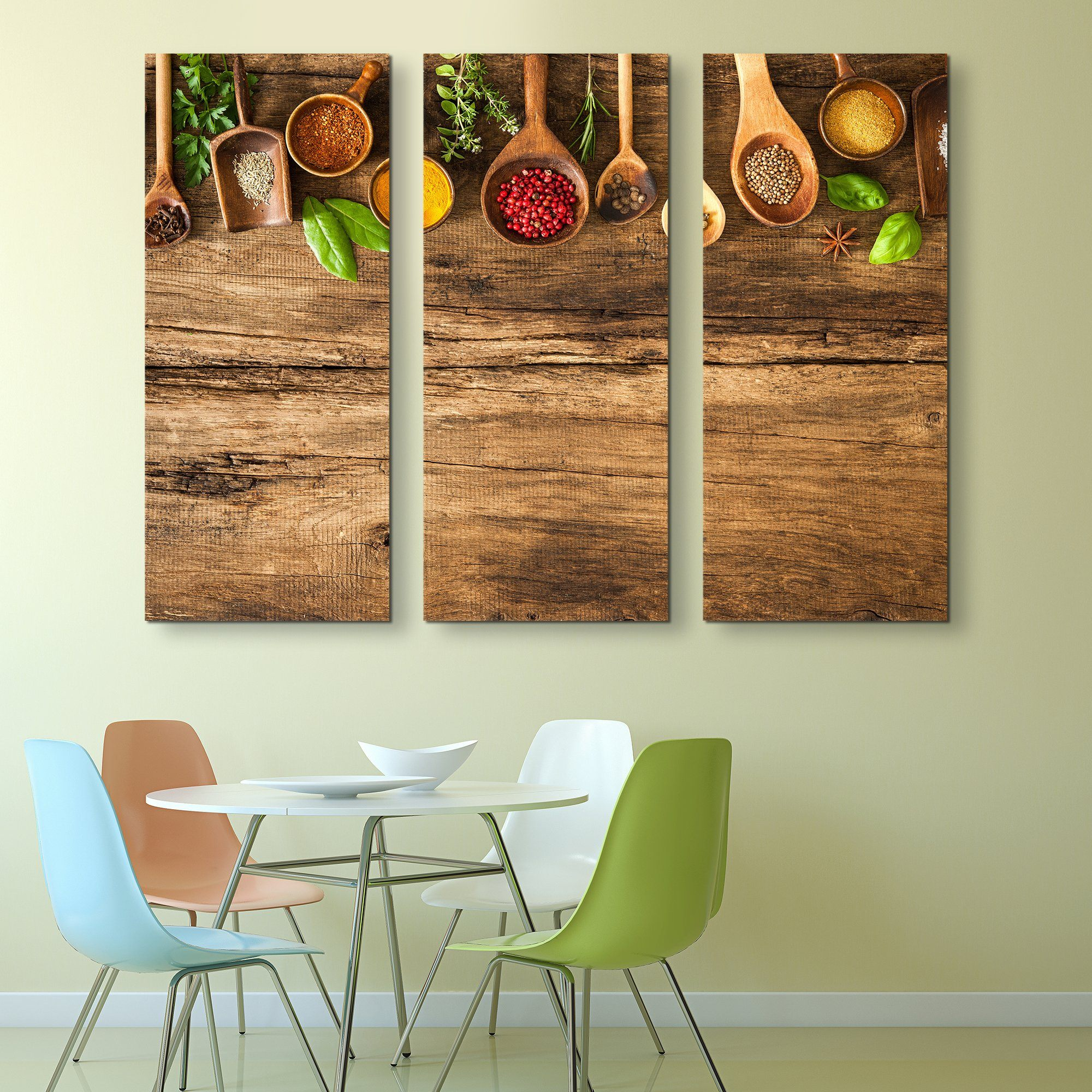 3 piece Various Colorful Spices wall art