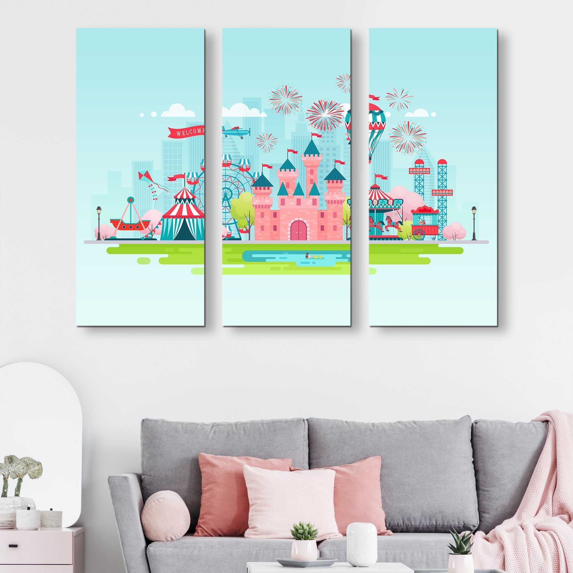 3 piece Kids Zone wall art