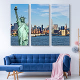 3 piece Liberty in NYC wall art