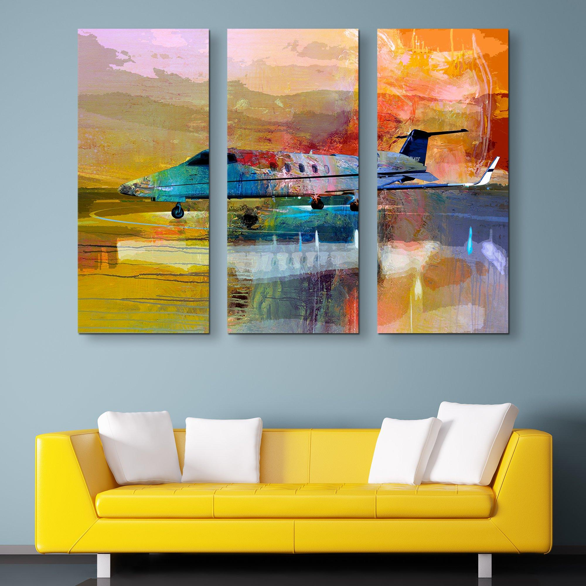 3 piece Jet Dreams wall art