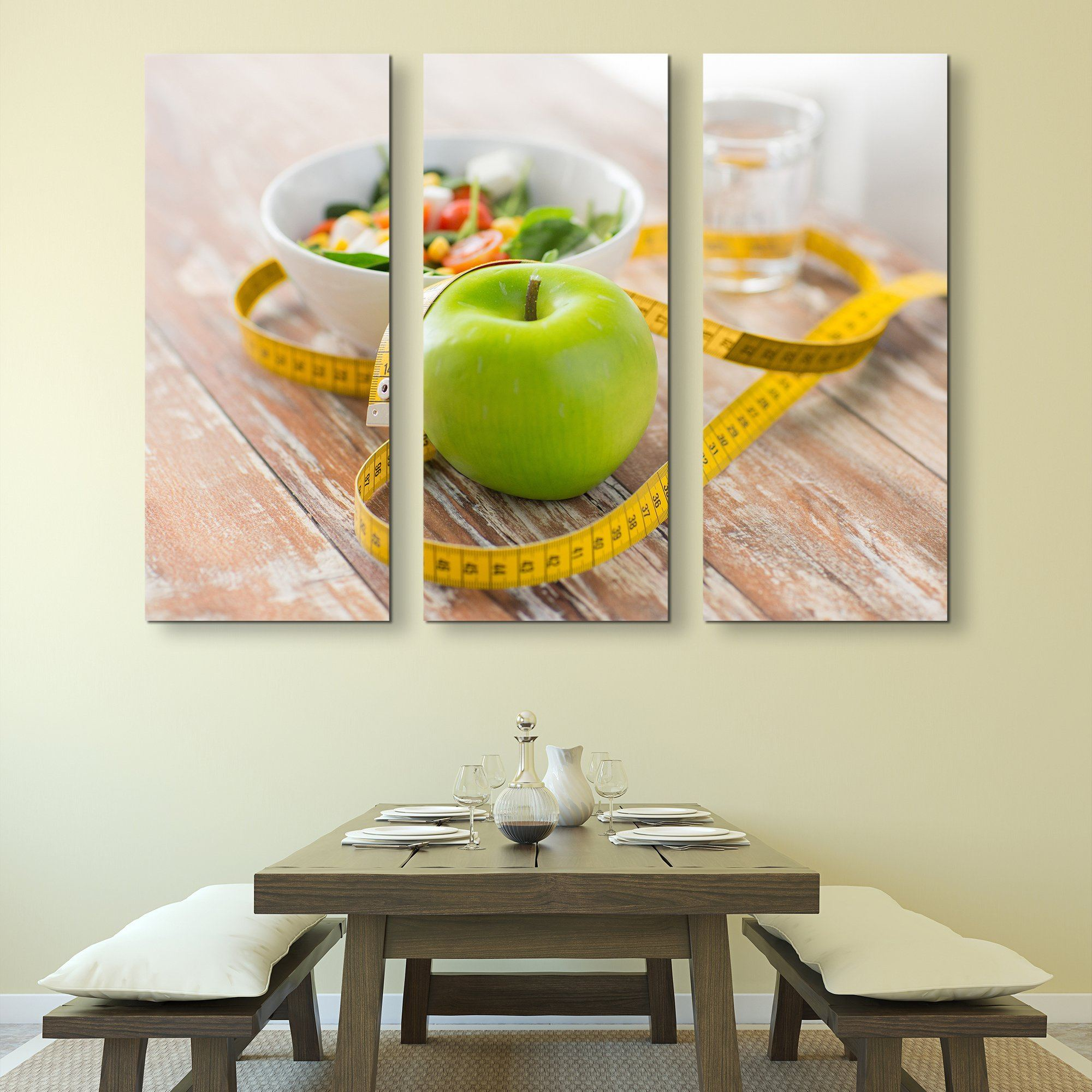 3 piece Apple wall art