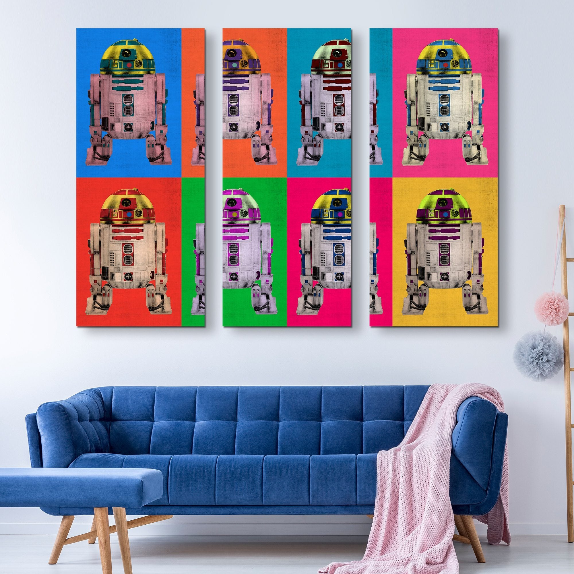 3 piece r2D2 Droid wall art
