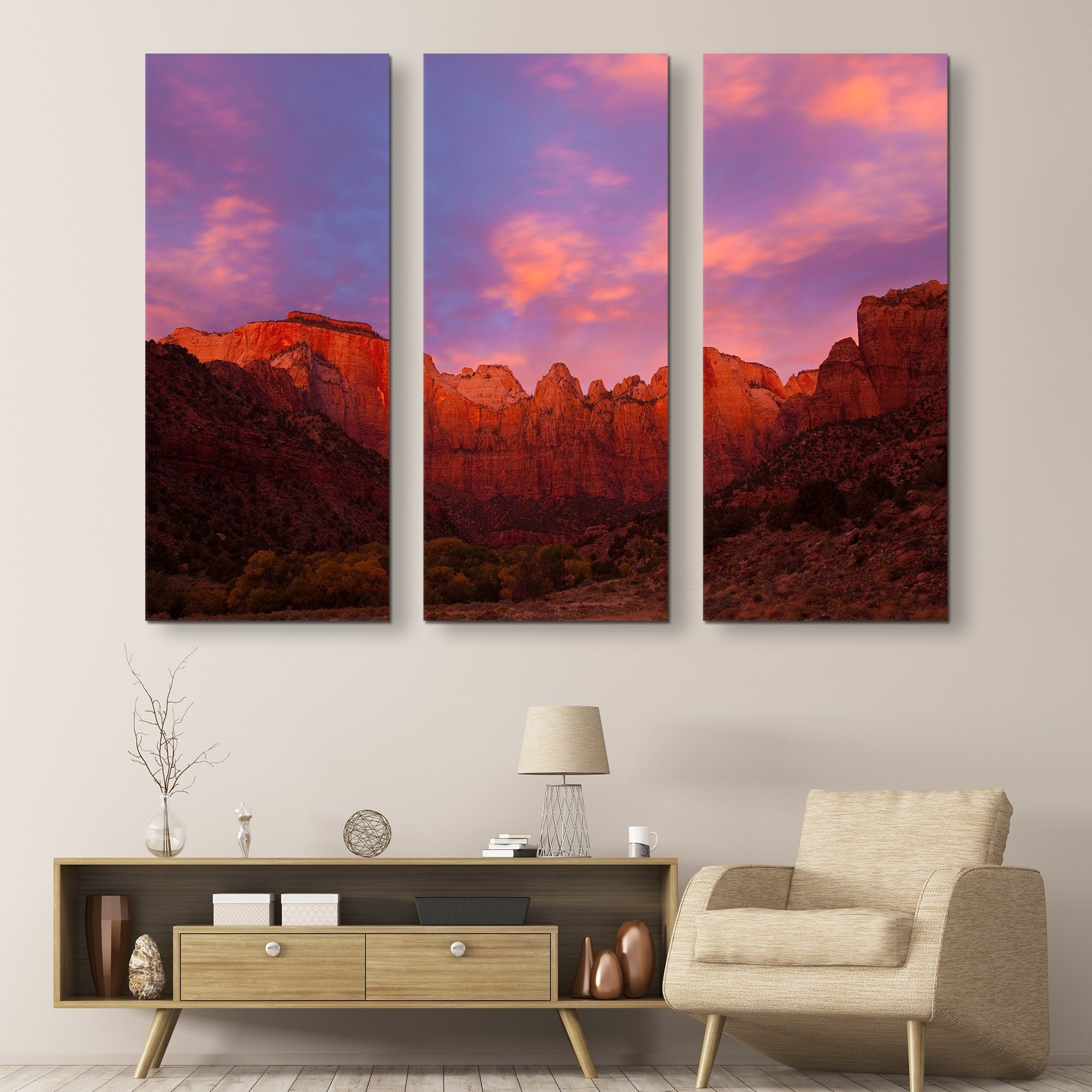 Towers of Virgin wall art 3 piece