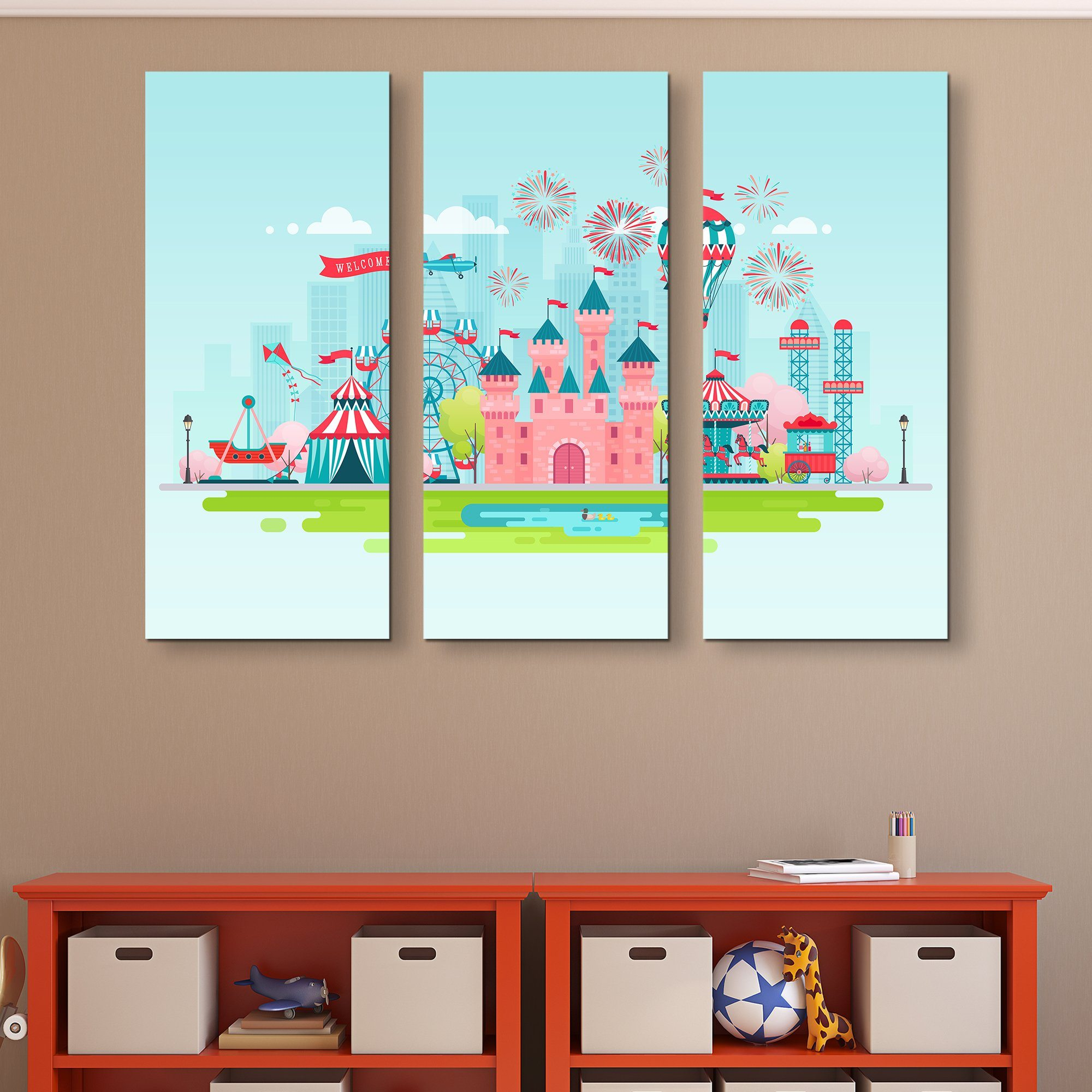 3 piece Dream Castle wall art