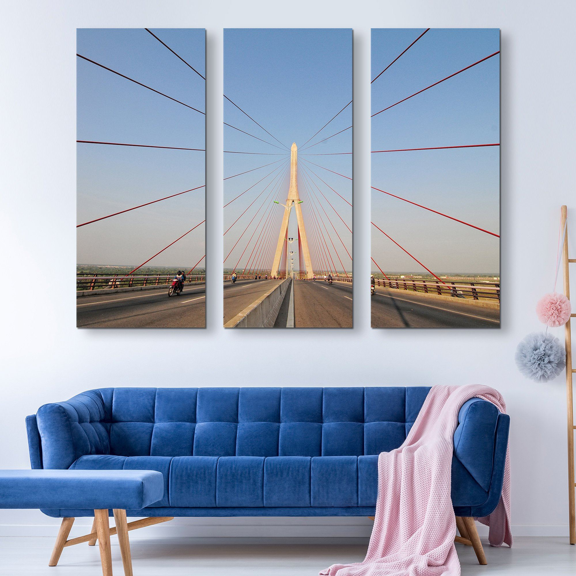 3 piece Structural Bridge wall art