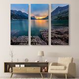 St Mary Lake - Glacier National Park wall art 3 piece