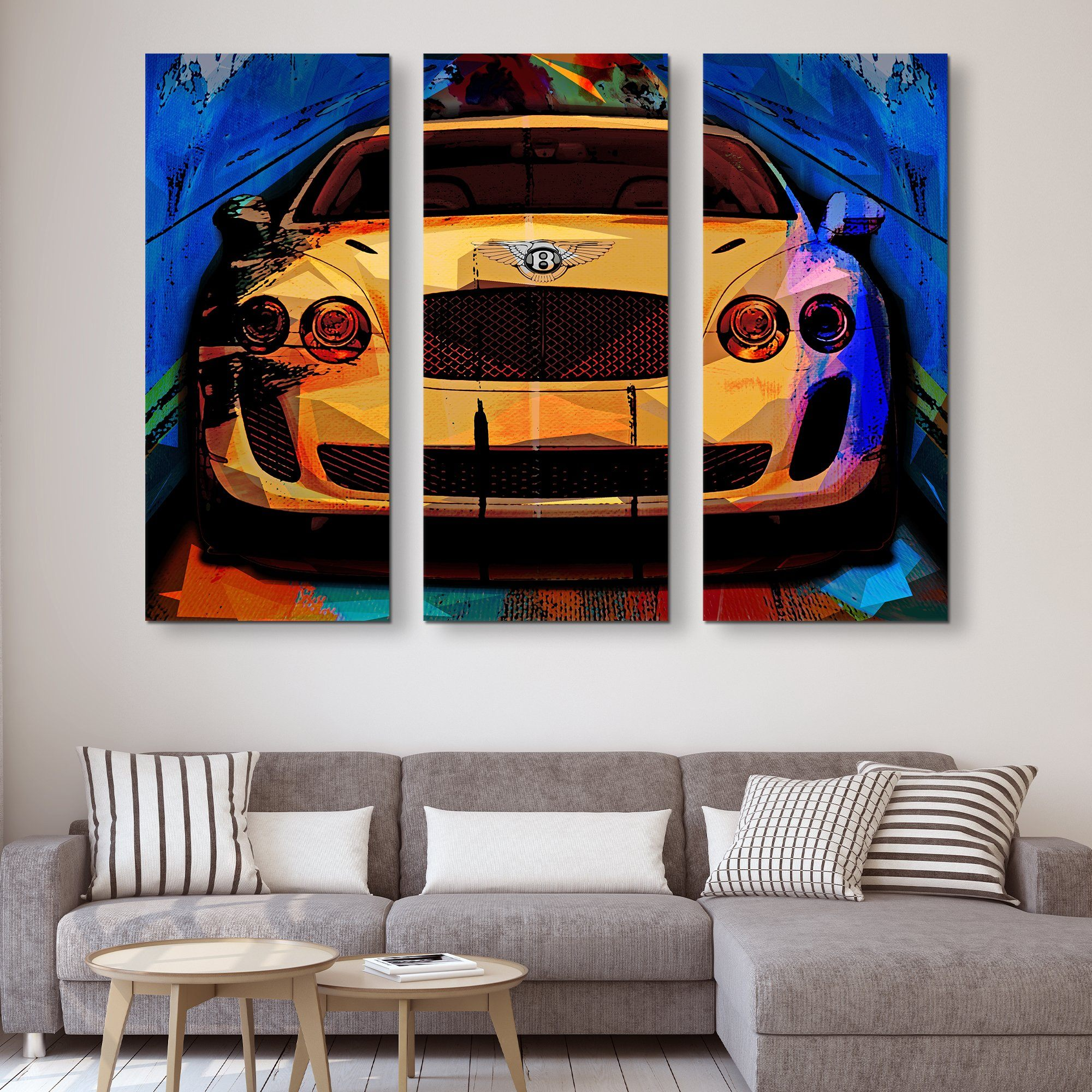 3 piece Bentley Super Sport wall art