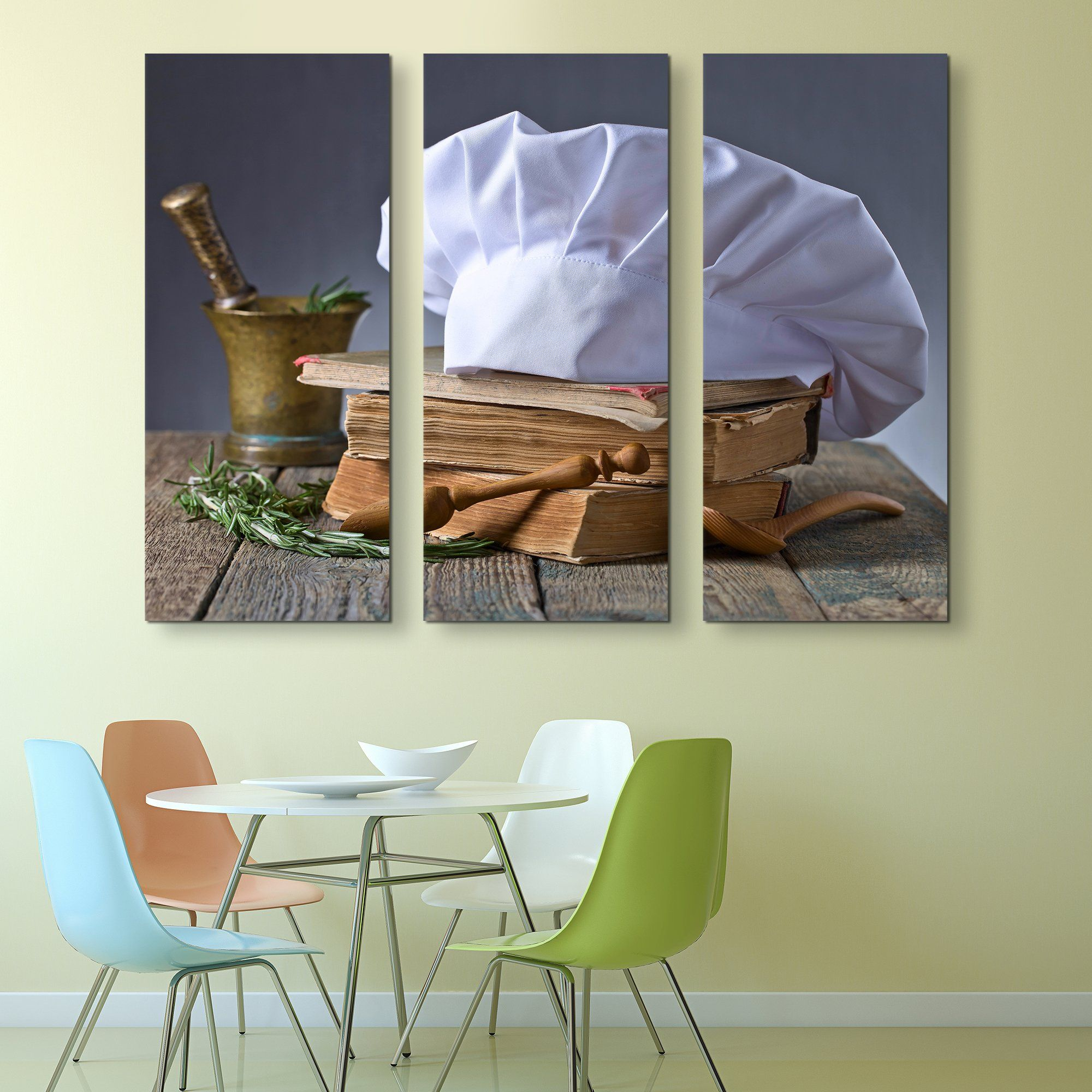 3 piece Chef's Hat wall art