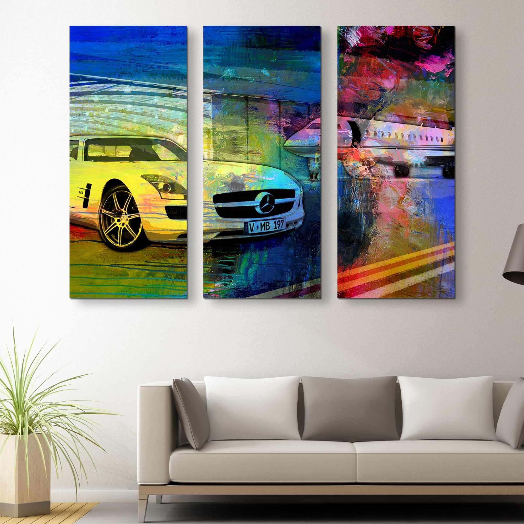 3 piece The Hangar wall art