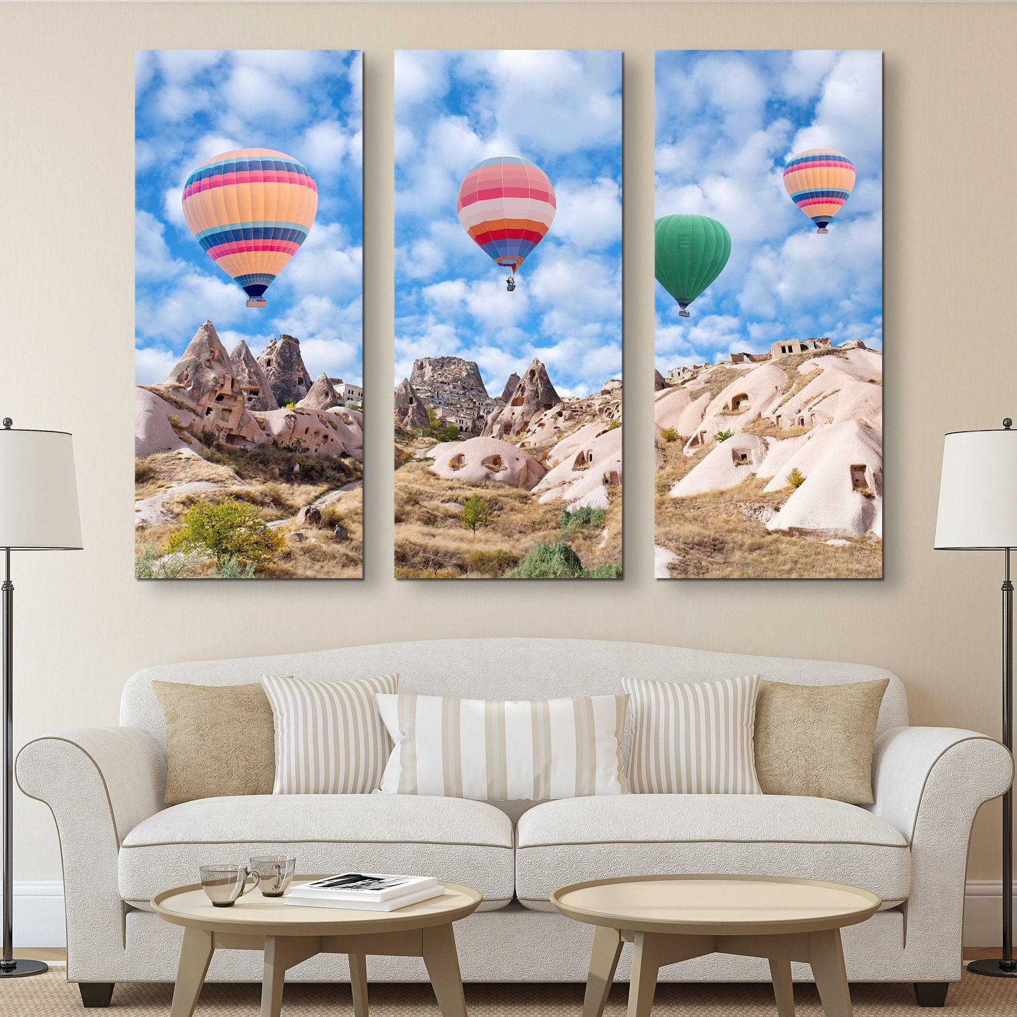 3 piece Colorful Balloons of Cappadocia wall art