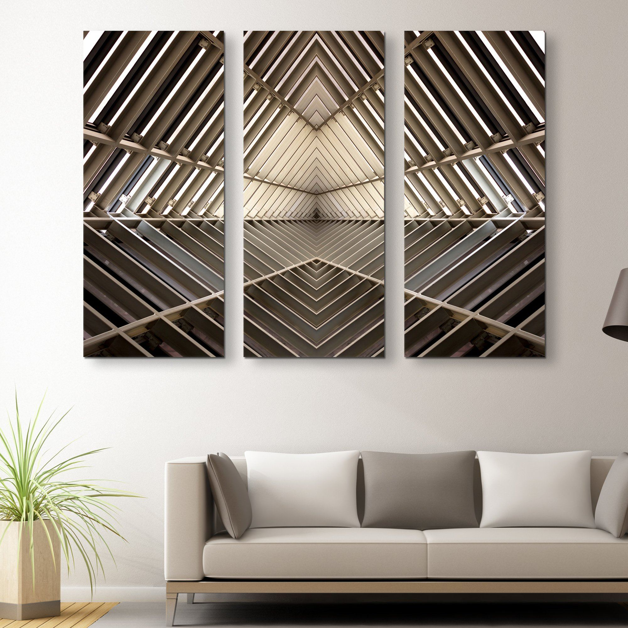 3 piece Metal Structure wall art