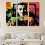 3 piece Money Talks wall art