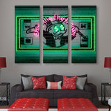 3 piece Show Me The Money wall art