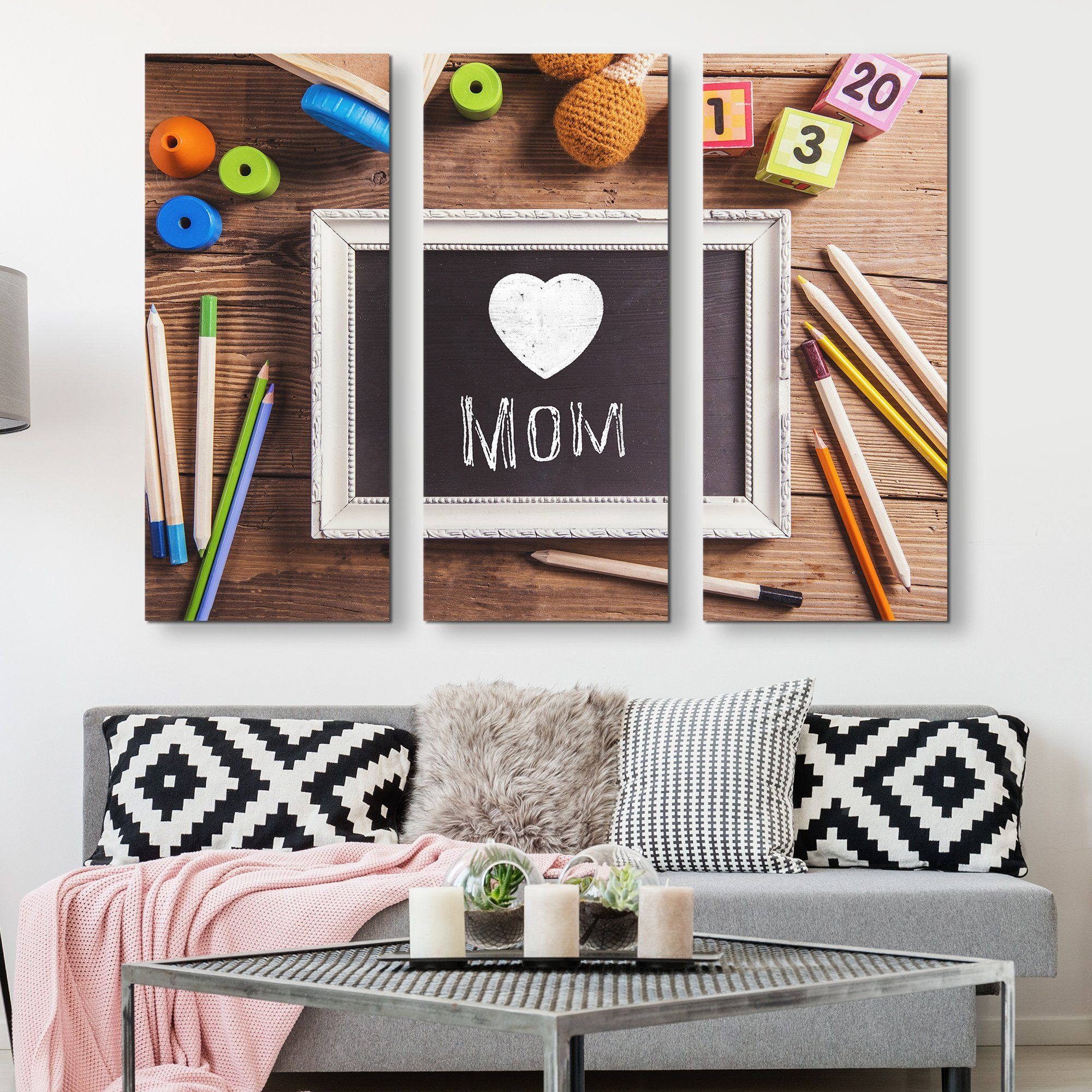 3 piece Happy Mother's Day wall art