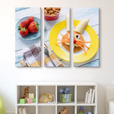 3 piece Happy Meal wall art