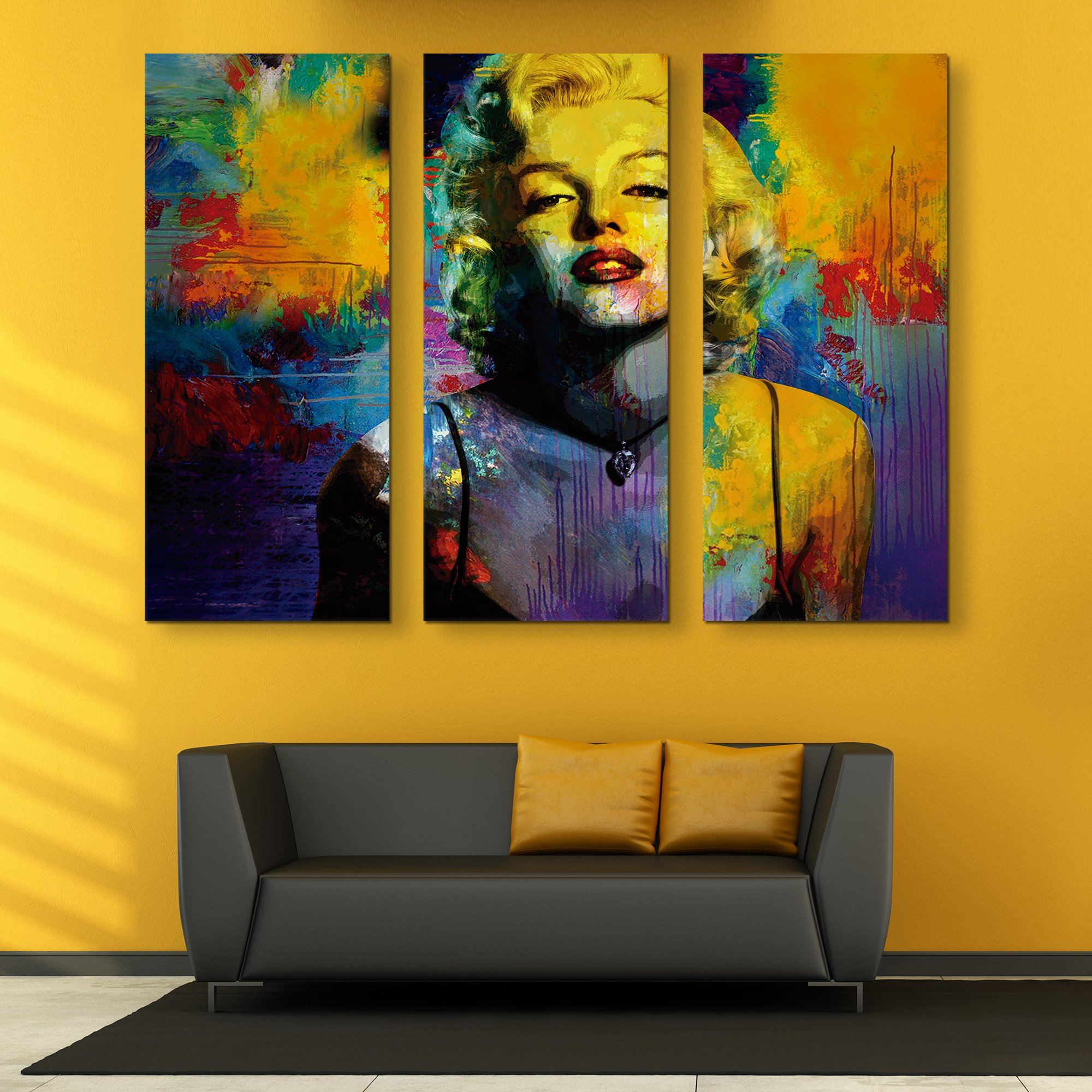 3 piece Marilyn Monroe wall art