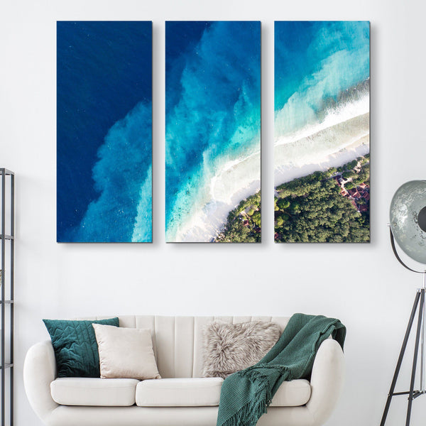 3 piece Top of the seabed wall art