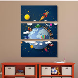3 piece space wall art