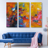 3 piece Rhapsody Of Spirit abstract wall art